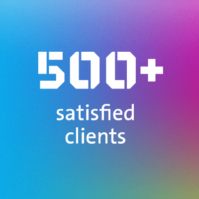 500+ satisfied clients